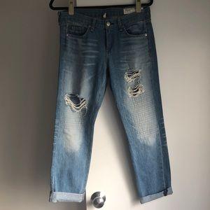 Rag & Bone Distressed Boyfriend Jeans Size 26